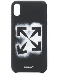 Чехол Stencil Для Iphone Xs Max Off-White c/o Virgil Abloh для него, цвет: Black