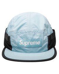 Cappello da baseball Camp con applicazione di Supreme in Black