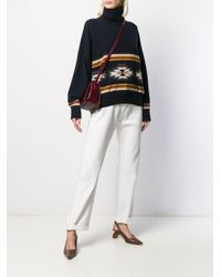 N.Peal Cashmere タートルネックセーター Blue