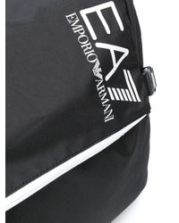メンズ EA7 ロゴ メッセンジャーバッグ Black