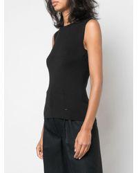 Top en maille à design sans manches Akris en coloris Black