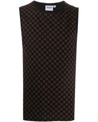 メンズ SSS World Corp ロゴ ノースリーブ Tシャツ Black