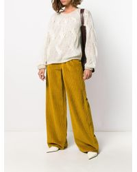 Pantaloni a vita alta di M Missoni in Yellow