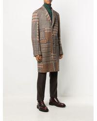 Пальто Миди В Технике Пэчворк Etro для него, цвет: Brown