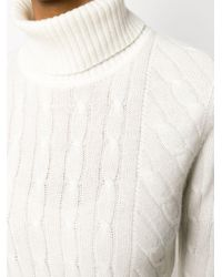 N.Peal Cashmere ケーブルニットセーター White