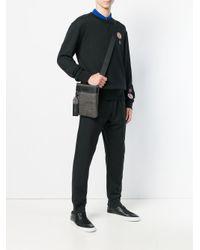 Versace Jeans Gray Logo Messenger Bag for men