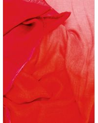 Faliero Sarti - Red Ombre Scarf - Lyst