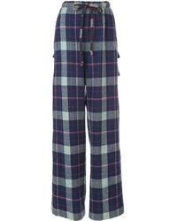 Pantaloni svasati di Natasha Zinko in Blue