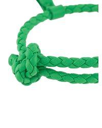 Bottega Veneta Green Intrecciato Weave Bracelet for men