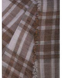 Brunello Cucinelli チェック スカーフ Multicolor