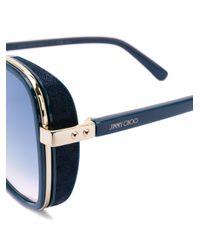 Tinted sunglasses Jimmy Choo en coloris Blue
