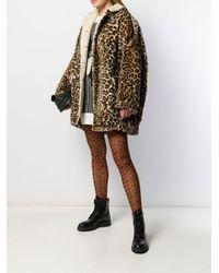 R13 レオパード コート Multicolor
