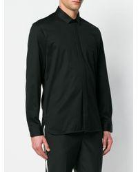 Neil Barrett Black Lightning Bolt Detail Shirt for men
