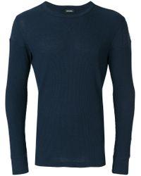 DIESEL Blue Woven Top for men