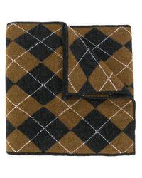 Pringle of Scotland パッチワーク スカーフ Multicolor