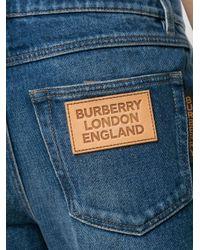 メンズ Burberry ストーンウォッシュ ストレートジーンズ Blue