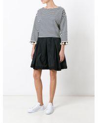 Moncler Black Pleated Flared Skirt