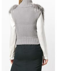 Fabiana Filippi Gray Fur Gilet
