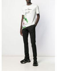 T-shirt Orchid Dolce & Gabbana pour homme en coloris White