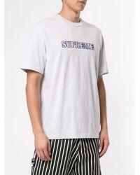 Supreme T-Shirt mit Logo in Gray für Herren
