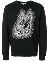 McQ Alexander McQueen - Black Bunny Be Here Now Sweatshirt for Men - Lyst