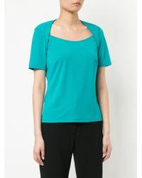 Han Ahn Soon Blue Contrast Sleeve T-shirt