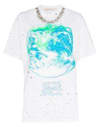T-shirt con decorazione di Christopher Kane in Multicolor