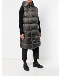 Rick Owens Gray Sleeveless Puffer Coat for men