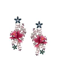 DSquared² - Pink Floral Earrings - Lyst