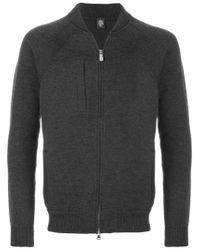 Eleventy | Gray Zipper Sweater for Men | Lyst