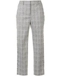 Rebecca Vallance Gray Troubadour Check Fringed Trousers