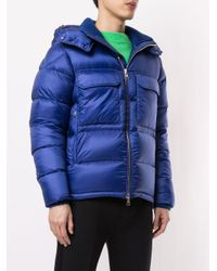 Rouve Zip-up Hooded Jacket Moncler для него, цвет: Blue