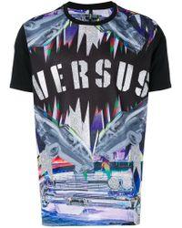 Versus  Black Printed T-shirt for men