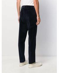 Pantaloni taglio straight a coste di PT01 in Black da Uomo