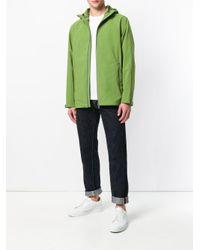 Herno Green Plaster Hooded Jacket for men