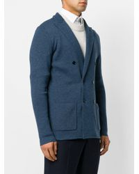 Lardini Blue Fitted Double-breasted Blazer for men