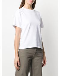Re/done White Colour Block T-shirt