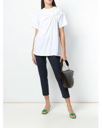 Erika Cavallini Semi Couture クロップドパンツ Blue
