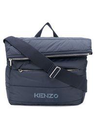 メンズ KENZO パデッド バッグ Blue