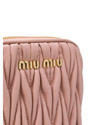 Miu Miu Pink Matelassé Leather Cross-body Bag
