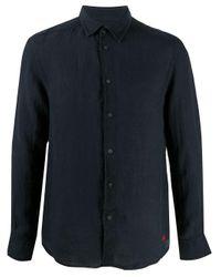 Peuterey Klassisches Leinenhemd in Blue für Herren