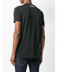 メンズ DSquared² プリント Tシャツ Black