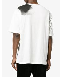 Ann Demeulemeester - White Lucian Top With Neckline Print for Men - Lyst