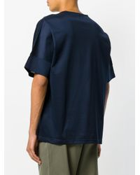 E. Tautz - Blue Wide Fit T-shirt for Men - Lyst