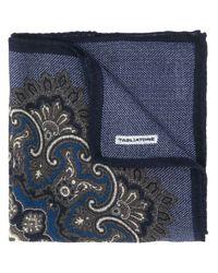 Carré de poche à motif cachemire Tagliatore pour homme en coloris Blue