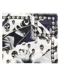 Écharpe Skull Alexander McQueen en coloris Black
