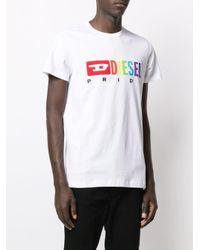 メンズ DIESEL X Pride Tシャツ White