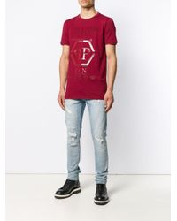 メンズ Philipp Plein Ss Statement Tシャツ Red
