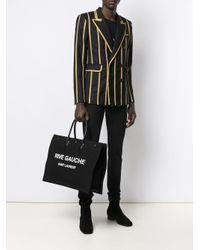 メンズ Saint Laurent ブラック リヴ ゴーシュ ノエ トート Black
