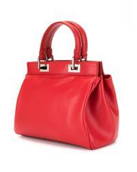 Petit sac à main à détails de cadenas Giambattista Valli en coloris Red